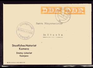 ZKD-Brief MeF. Mi.-Nr. 16 M