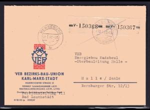 ZKD-Brief MeF. Mi.-Nr. 26 V
