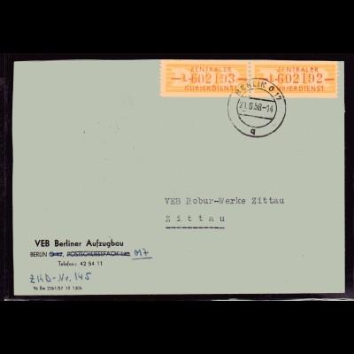 ZKD-Brief MeF. Mi.-Nr. 16 L