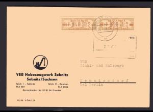 ZKD-Brief MeF. Mi.-Nr. 18 M