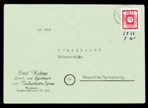 SBZ, Fernbrief mit Notstempel Taubenheim