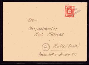 SBZ, Fernbrief mit Notstempel Dürrhennersdorf