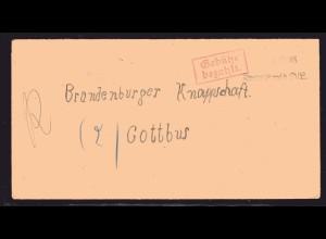 SBZ, Fernbrief mit Notstempel Krauschwitz