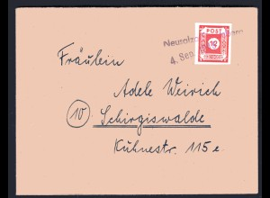 """SBZ, Fernbrief mit Notstempel Neusalza """"c"""""""
