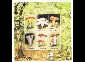 "Pilze; Kleinbogen Tansania ""Mushrooms of the world"""