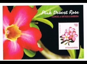 Blumen Block Antigua&Barbuda (The Desert Rose)