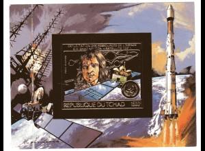 Tschad Weltraumforschung, Goldfolie Block 151 B