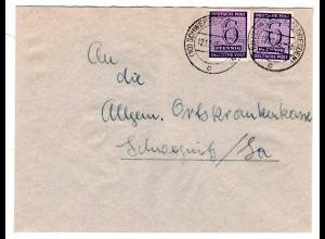 Orts-Brief mit Me.F. Mi.-Nr. 117ya