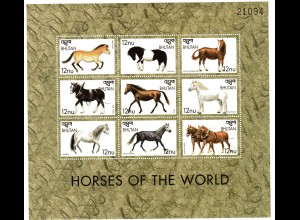 Bhutan Kleinbogen Pferde der Welt