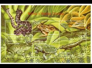 Zentralafrika Block Reptilien