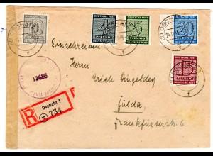 Eingeschriebener Fern-Brief mit Mi.F. Mi.-Nr 133xb ua.