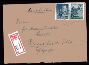 GG, Eingeschriebene Briefe mit Mi.-Nr. 51,73