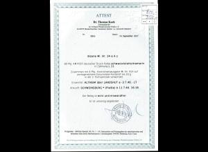 Bizone, Einschreibe-Fernbrief mit Mi.-Nr. 34 a Az + 914, FA. Dr. Koch.