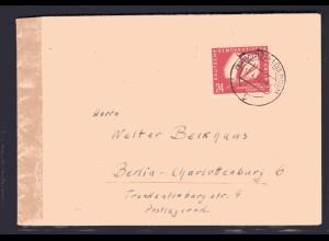 DDR, EF. Mi.-Nr. 281 mit Zensur und AK-St.