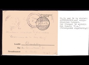 Kriegsgefangenensendung 1. Weltkrieg - diverse Zensuren