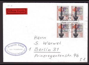 Berlin, Orts-Eilbote-Brief mit MeF. Mi.-Nr. 304, mit Ak-St.