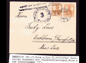 Zensurpost, Emmerich Nr. 27a