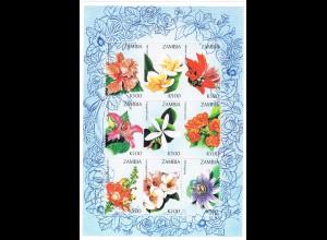 Blumen; Kleinbogen Sambia