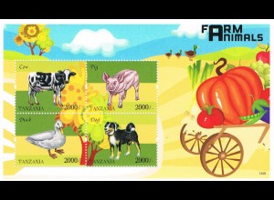 "Tansania Block ""Farm Animals"""