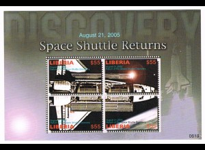 "Liberia Block ""Space Shuttle Returns"""