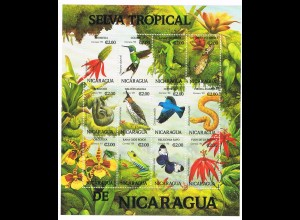 """Nikaragua Kleinbogen """"Tropische Flora und Fauna"""""""