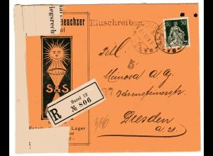 """Zensurpost, 1 Weltkrieg, Schweiz """"...unter Kriegsrecht geöffnet"""""""