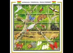 "Ghana Kleinbogen ""Tiere im Tropischen Regenwald"""
