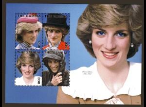 Princess Diana Block und Kleinbogen