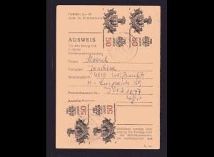 DDR., Me.F. Mi.-Nr. 3025 auf Ausweiss-Karte.