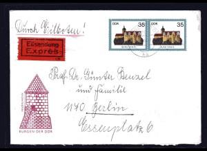 DDR., Me.F. Mi.-Nr. 2912 auf Eilbote-Fernbrief mit AK-St.