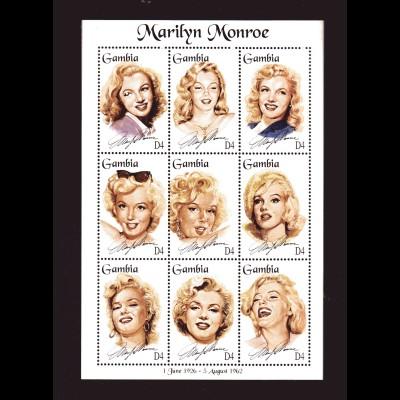 Marilyn Monroe, Kleinbogen und 2 Blocks, Gambia