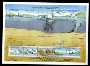 "WWF Antigua & Barbuda Kleinbogen ""Pearl Harbour"""