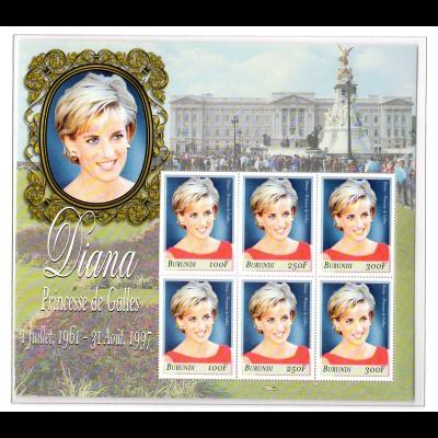 Burundi Kleinbogen Princess Diana