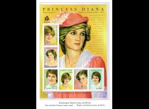 Sierra Leone Kleinbogen Princess Diana