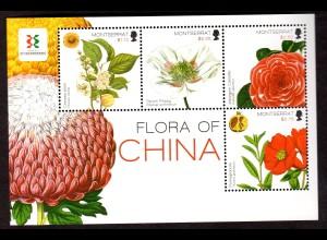 """Montserrat 2 Blocks: """"Blumen und Fauna von China"""""""