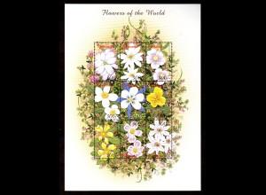 """Zentralafrika, Kleinbogen """"Blumen der Welt"""""""