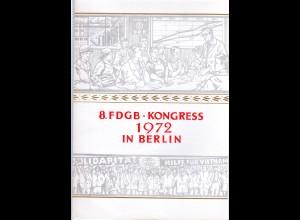 DDR-Gedenkblatt, 8. FDGB Kongress 1972 in Berlin
