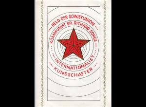 DDR-Gedenkblatt, Held der Sowjetunion Dr. Richard Sotrge