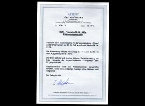 DDR-FDC Mi.-Nr. 342 a gelaufen mit Ak-St., FA. Schönherr