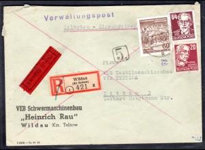 DDR R-Eilbote-Fernbrief mit Mi.-Nr. 341 va XI , Befund Mayer