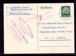 Elsaß, Ganzsache Mi.-Nr. P 2, gelaufen (Bedarf)