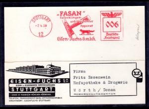 DR., Werbungskarte Eisen-Fuchs GMbH, Stuttgart