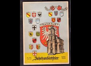 Ereigniskarte, Jahrhundertfeier Frankfurt