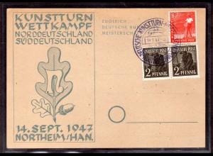 Ereigniskarte, Kunstturn Wettkampf 1947