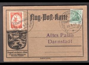 DR., Rhein-Main Flug.-Karte Mi.-Nr. II ab Darmstadt.