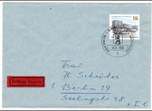 Berlin, Orts-Eilbote-Brief mit EF. Mi.-Nr. 265, mit Ak-St.