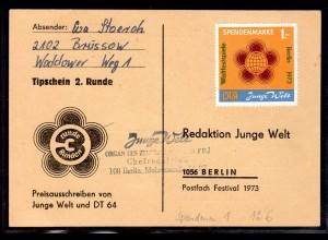 DDR-Spenden-Marke Nr. 1 auf Tipp-Schein