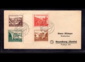 SBZ., Thüringen.Mi.-Nr.Wzd 1+2 auf Brief.