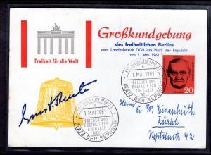 Ereigniskarte, Großkundgebung Berlin 1 Mai 1961