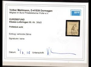 AD., NDP.,(Okkupationsgebiete), Mi.-Nr. 3 II b gestempelt, Befund Mehlmann.